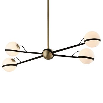Shown in Textured Bronze / Brushed Brass finish