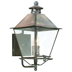 Montgomery Outdoor Wall Sconce (Iron/Clear/Md) - OPEN BOX