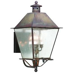 Montgomery Outdoor Wall Sconce (Brass/Seeded/XL) - OPEN BOX
