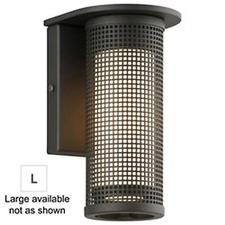 Hive LED Outdoor Wall Sconce (Matte Black/Lrg/LED)-OPEN BOX