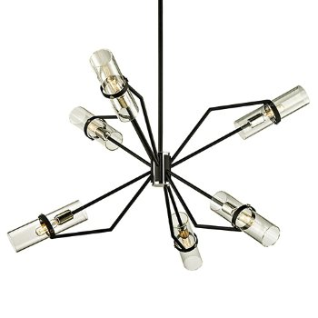 Shown in Textured Black and Polished Nickel finish, 36 inch size