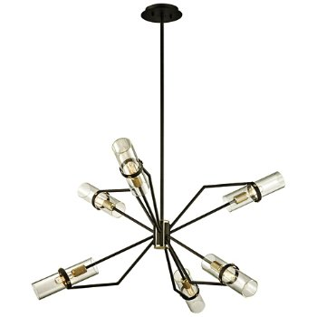 Shown in Textured Bronze and Brushed Brass finish, 36 inch size