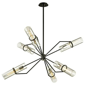 Shown in Textured Black and Polished Nickel finish, 50 inch size