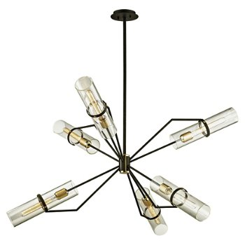 Shown in Textured Bronze and Brushed Brass finish, 50 inch size