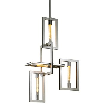 Shown in Silver Leaf with Stainless Accents finish, 4 Light