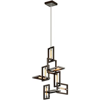 Shown in Bronze with Polished Stainless, 7 Light
