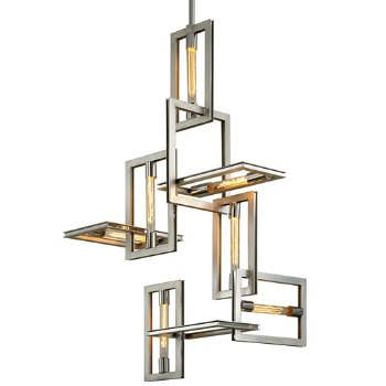 Shown in Silver Leaf with Stainless Accents finish, 7 Light