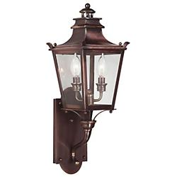 Dorchester Outdoor Wall Sconce (Bronze/Clear/Small)-OPEN BOX
