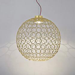 G.R.A. Round LED Pendant Light (Gold/Large)-OPEN BOX RETURN