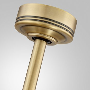 Shown in Aged Brass finish, Canopy view