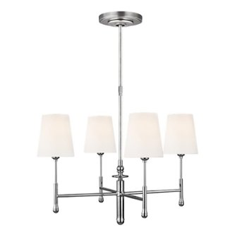 Shown in  Polished Nickel finish, 4 Light Option