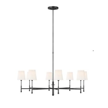 Shown in Aged Iron finish, 8 Light Option