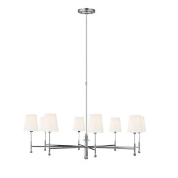 Shown in  Polished Nickel finish, 8 Light Option