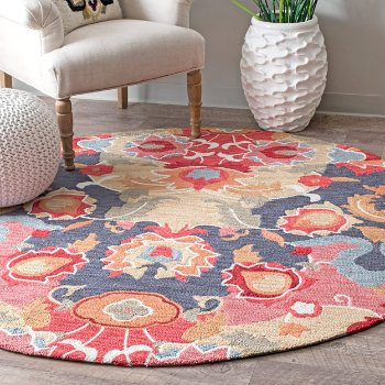 Hand Hooked Felicity Round Rug by Nuloom at Lumens.com
