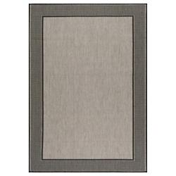 Machine Made Gris Outdoor Rug