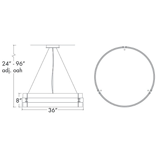 Invicta 16354 36-Inch Drum Pendant