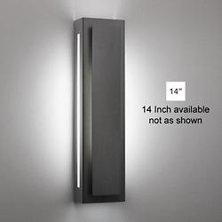 Invicta 16353 Outdoor LED Wall Sconce (Black/14 Inch) - OPEN BOX RETURN