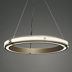 Strata LED Chandelier with Glass