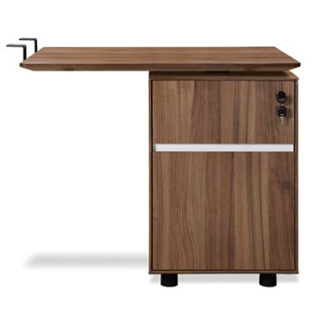 300 Series Return Desk With File Cabinet