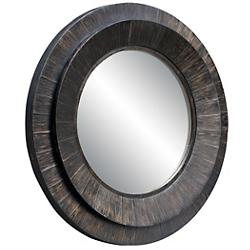 Corral Round Wood Mirror