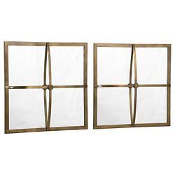 Window Pane Mirror Set of 2