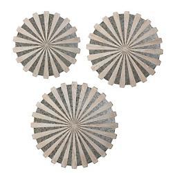 Daisies Mirrored Circular Wall Decor Set of 3
