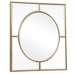Stanford Gold Square Mirror