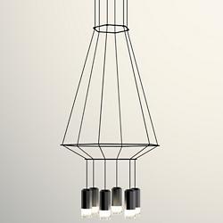 Wireflow 3-D LED Hexagonal Pendant