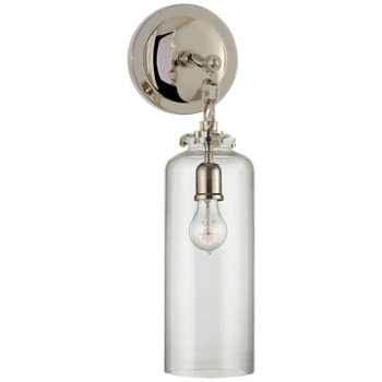 Shown in Polished Nickel finish with Clear shade