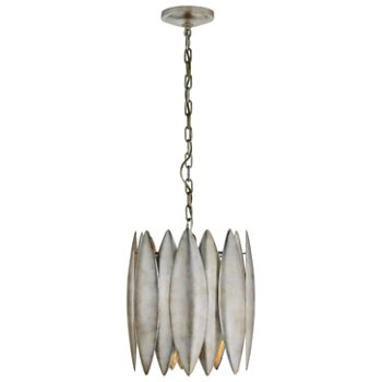 Shown in Burnished Silver finish, Small size