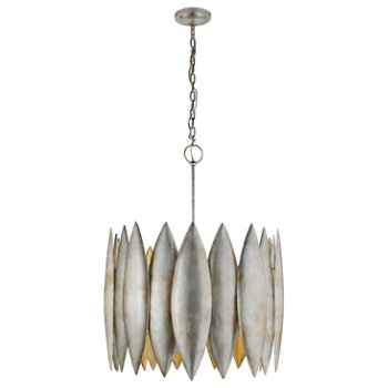 Shown in Burnished Silver finish, Large size