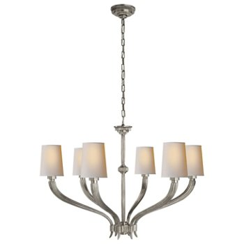 Shown in Antique Nickel finish, Large size