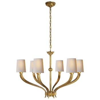 Shown in Antique Burnished Brass finish, Large size
