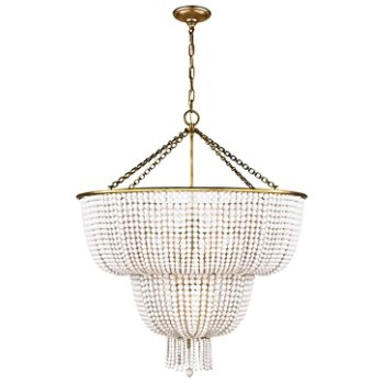 Shown in White Acrylic Shade with Hand-Rubbed Antique Brass finish