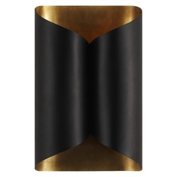 Shown in Black with Hand Rubbed Antique Brass finish