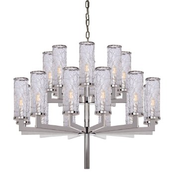 Liaison double tier chandelier by visual comfort at for Andy singer visual comfort