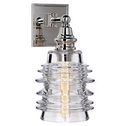 Covington Wall Sconce with Ribbed Glass