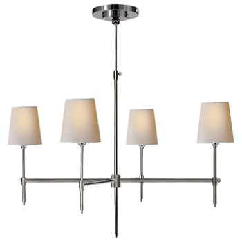 Shown in Polished Nickel finish, 36 inch