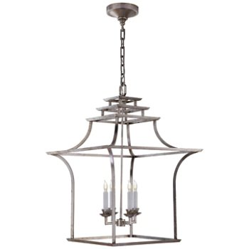 Shown in Burnished Silver Leaf finish