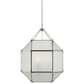 Shown in Frosted shade color, Polished Nickel finish
