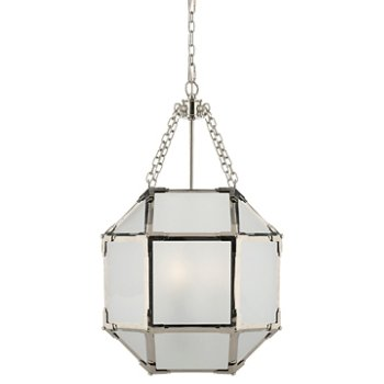 Shown in Frosted shade with Polished Nickel finish