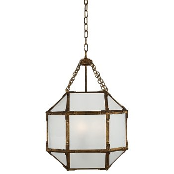 Shown in Frosted shade with Gilded Iron finish