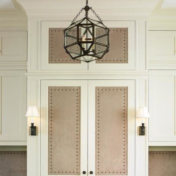 Shown in Clear shade with Antique Zinc finish, in use