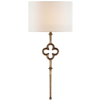 Quatrefoil tall wall sconce by visual comfort at for Andy singer visual comfort