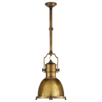 Shown in Antique-Burnished Brass finish, Small size
