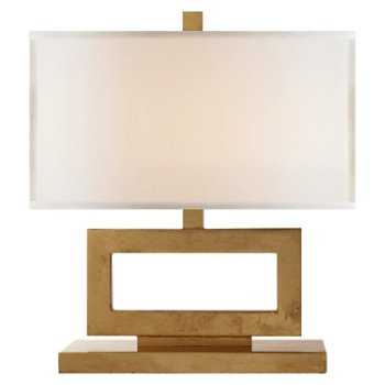 Shown in Gild with Linen Shade