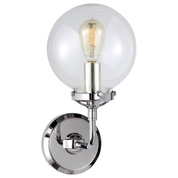 Bistro Clear Glass Wall Sconce