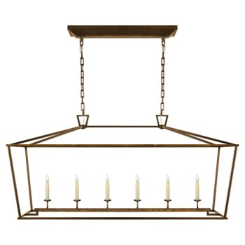 Shown in Gilded Iron finish, Large size