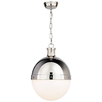 Shown in Polished Nickel finish, 18 inch size