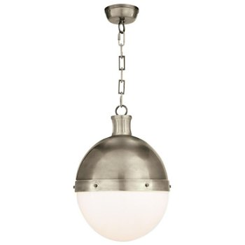 Shown in Antique Nickel finish, 18 inch size